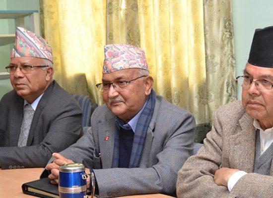 माधब कुमार नेपाल, केपी शर्मा ओली, झलनाथ खनाल