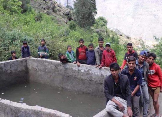 मुगु जिल्लाको सोरु गाउंपालिका-९ कालैमा रू ५२ लाख लागतमा बनाइएको पानी पोखरी